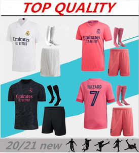 20-21 Real Madrid soccer jerseys adult sets 2020 2021 camiseta de futbol SERGIO RAMOS BENZEMA MODRIC ISCO HAZARD football shirts kits