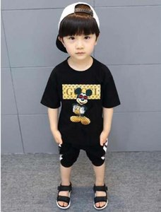 95# 2020 New Fashion Summer 3-12 Years Old Baby Boys Girls Print T-shirts Casual short sleeve Shirt Tops Cotton Children Tees Kids Clothing
