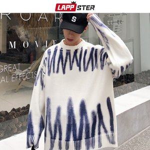 Wholesale mens work for sale - Group buy LAPPSTER Men Korean Fashions Sweaters Pullovers Mens Streetwear Fashions Oversized Knitted Sweater Autumn Oversized Tops CX200730