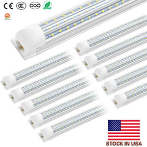 Wholesale cree stock for sale - Group buy LED tubes lights ft ft Integrated V Shaped Double row W W Cree Led Fluorescent lighting AC85V V US stock