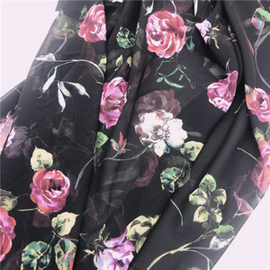 hot sale cheap transit print floral Paris chiffon fabric for sewing woman dress and blouse for diy sewing craft