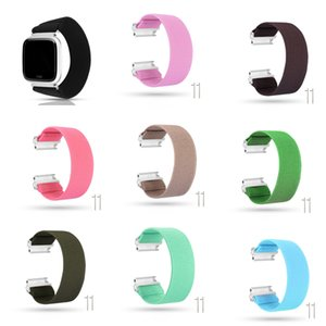 Wholesale kinds watches for sale - Group buy Elastic Cord Printing Nylon Straps Hair Kind Bands Smart Watch Wearable Replaceable Watchband Suitable for Fitbit Versa Versa Lite Wristband