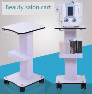 Good quality Classic design Hydro Aqua Facial Equipment Trolley , Very Steady White Salon Furniture Beauty Machine Cart for hifu ,laser hair remove,oxygen jet device