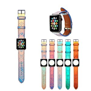 for Apple Watch Band Laser Leather for Apple Watch strap 38mm 40mm 42mm 44mm Designer Straps for iwatch 5 4 3 2 strap
