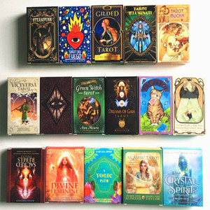 Wholesale toy cards resale online - Women Girls Cards Game English Tarot Cards Oracles Deck Mysterious Divination Deck Parent child Interaction Board Game