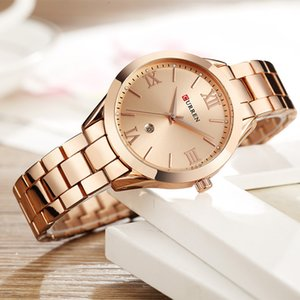 Wholesale gold curren resale online - CURREN Gold Watch Women Watches Ladies Creative Steel Women s Bracelet Watches Female Clock Relogio Feminino Montre Femme CX200720