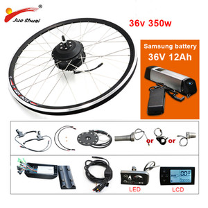 Wholesale hub motor bike for sale - Group buy EU RU Duty Free No Tax V W e Bike Kit V12AH Samsung Battery Electric Bicycle Conversion Kit Front Rear Hub Motor Wheel