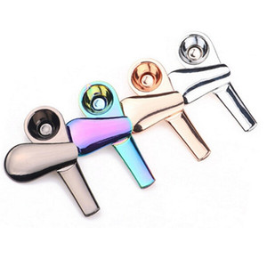 Wholesale rainbow smoke cigarettes resale online - Rainbow Smoking Pipes Metal Spoon Magnet Smoking Pipe Zinc Alloy Magnetic mm Length mm diameter Tobacco Pipes Cigarette With Box