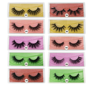 Wholesale black fake eyelash strips resale online - New Arrival d Mink eyelashes Thick real mink Hair false lashes Eye Lash Makeup Extension fake Eyelashes Styles
