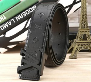 Hot sale Fashion Business Ceinture 20 style L belts design mens womens riem with Gold letter buckle black belt not with box as gift 7a8vq8