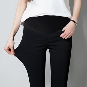Wholesale maternity long trousers resale online - Women Pregnancy Maternity Clothing Jeans Black Pants For Pregnant Women Clothes Nursing Trousers Denim Jeans Womens long pants