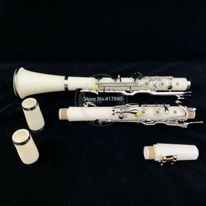 Wholesale white ebony wood for sale - Group buy New First class G key clarinet Ebony Wood White silver plated keys Good material and sound with Case