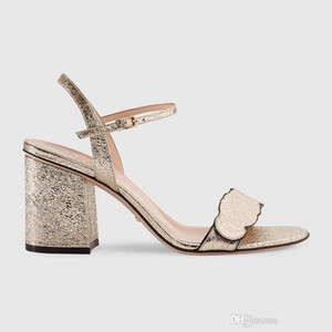 2020 women designer shoes ladies flat sandals high heels New Luxury high Heels Leather sandal suede mid-heel 7-11cm summer Sexy sandals Siz