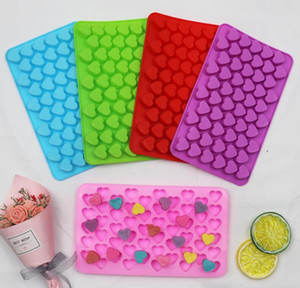 Wholesale mini silicone moulds resale online - Mini Holes Non stick Silicone Chocolate Cake Mold Love Heart Shaped Chocolate Mold Bakeware Baking Mousse Jelly Mould