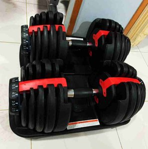 Adjustable Dumbbell 2.5-24kg Fitness Workouts Dumbbells Weights Build Your Muscles Sports Fitness Supplies Equipment ZZA2230 Sea Shipping