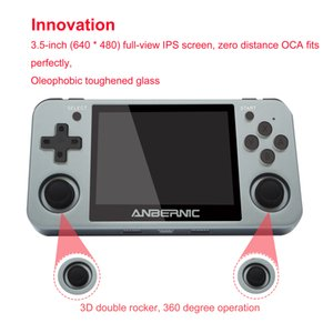 Wholesale free multi games resale online - ANBERNIC RG350M Retro Handheld Game Player RG350 Metal Upgrade Aluminum Alloy Shell IPS Screen Free