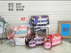 Hot sale fashion handbags purses Women favorite mini pochette 3pcs accessories crossbody bag vintag shoulder bags leather multi color straps