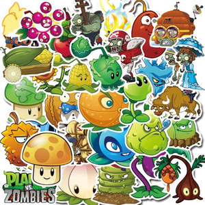 Wholesale plants zombie resale online - 100 Mixed Car Sticker Plants Zombies For Laptop Skateboard Pad Bicycle Motorcycle PS4 Phone Luggage Decal Pvc guitar Fridge Stickers