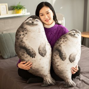 Wholesale cute birthday gifts friends resale online - 2020 new cute fat Simulation Seal Pillow round special super soft Plush Toy creative high quality birthday gift for kids friends