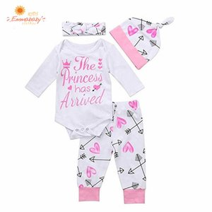 Wholesale newborn babies clothing for sale - Group buy 2020 Newborn Girl Clothing Cotton Outfit Infant Baby Bodysuit Autumn Girls Clothes Set Long Sleeve Letter Jumpsuit Pants