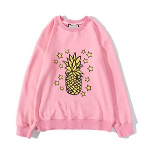 New Fashion Designer Hoodies For Men Women Sweatshirt With Letters Pineapple Print High Quality Pullovers Streetwear Man Tops 3 Colors