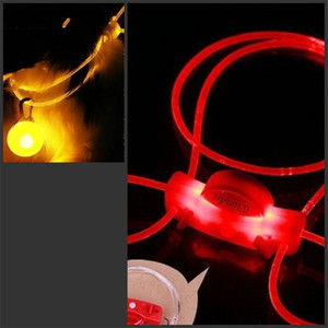 Wholesale chirstmas ornament resale online - Led Luminescence Hanging Rope Pet Dog Collars Cat And Dogs Leash Ornament Travel Safety cm Cheapest rz D2