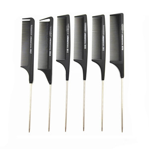 Wholesale curly hair types for sale - Group buy Professional Anti Static Rat tail comb Metal hair comb hair salon use hair beauty tool Toni and Guy