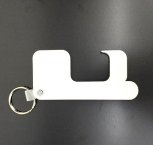 BIG SALE Sublimation KeyChain non-contact door handle keychain heat transfer printing keychain customize free shipping A11