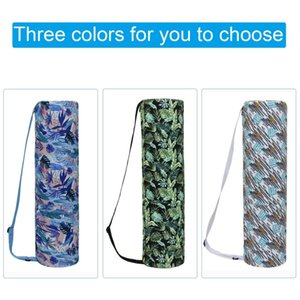 Wholesale yoga bag zipper resale online - Home Indoor Yoga Mat Storage Bag Printed Yoga Mat Bag Gym Case With Zipper Drawstring Bags Easy Carry Backpack n