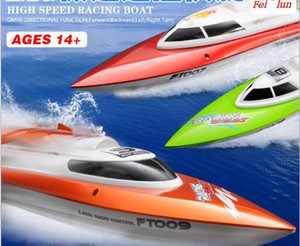 Wholesale toys boat ships resale online - Coll FT009 G CH Water Cooling Racing Ship km Super Speed Boat Remote Control Kid Electric Toy Gift