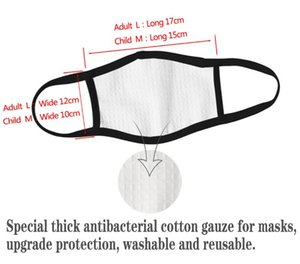 Wholesale mouth nose masks resale online - 3D Digital print Cotton gauze face mask k Anti Dust Mouth Nose Cover Respirators earloop Air Pollution masks
