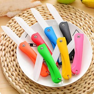 Wholesale folding pocket knives new for sale - Group buy NEW Ceramic Knife Gift Knifes Pocket Ceramic Folding Knives Kitchen Fruit Vegetable Paring Parer With Colourful ABS Handle