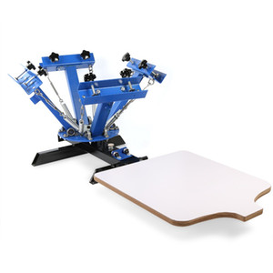 2020 Hot Selling 4 Color 1 Station Silk Screening Screenprint Machine Portable Press Screen Printing Machine