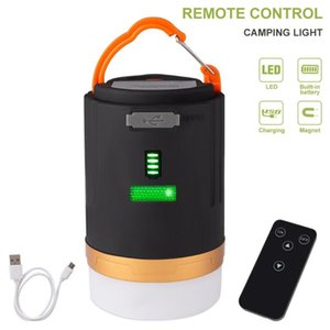 Wholesale remote camp light for sale - Group buy Remote Control LED Camping Light Outdoor Tent Lamp Portable Lanterns Emergency Lights Waterproof USB Rechargeable Bulb Lantern