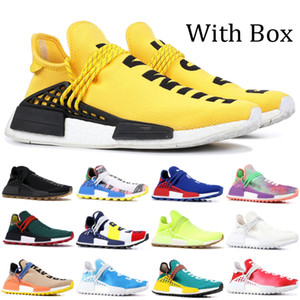 Wholesale pack black resale online - Cheap NMD Pharrell Williams Solar Pack Mother BBC Black Yellow Mens Womens Human Race Running Shoes Pale Nude Nerd Cream Sneakers With Box