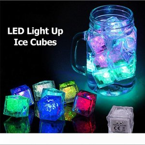 Wholesale ice cubes for sale - Group buy LED Ice Cubes DIY Colorful Mini LED Party Lights Crystal Cube Water Actived Light up LED Glow Light Drinking Wine Wedding Party Decoration