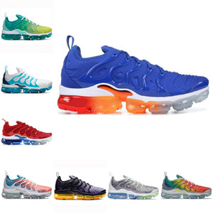 Free Shipping New 2020 Cheap Mens Shoe Sneakers TN Plus Breathable Cusion Casual Running Shoes New rrival Color US5.5-11 EUR36-45