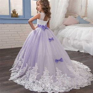 Wholesale party frock for girl dresses resale online - Flower Girl White Dress Christmas Party Kids Clothes Tutu Tulle Dresses For Girl Frocks Yrs Children s Wedding Prom Costume
