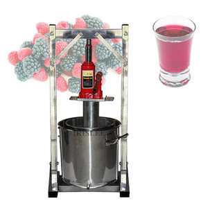 Wholesale hand press fruit juicer for sale - Group buy HOT L Commercial Fruit Juice Cold Press Juicing Machine Stainless Steel Manual Grape Pulp Juicer Machine