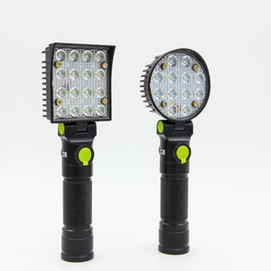 Wholesale car base resale online - Rechargeable LED Work Light with Magnetic Flexible Base USB Charging Lighting Modes COB for Camping Car Repair