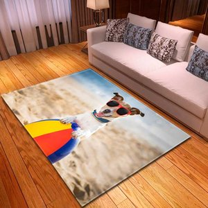 Wholesale 3d carpet mats resale online - Home Decor Sofa Area Rug D Pet Dog Beach Balls Kids Play Mat Room Decor Bedside Rug Flannel Non slip Living Room Carpets