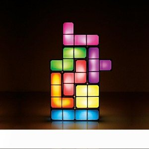 Wholesale usb powered toys for sale - Group buy USB Powered Version Magical LED Decorative Lamp Set desk lamp toys night light led tetris light Christmas Gift Cyber Monday Gift