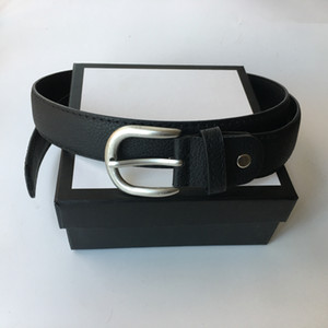 3.8cm Width Mens Womens Belt Big Smooth Buckle High Quality Fashion Belts Genuine Leather Waist Belts Best Gifts