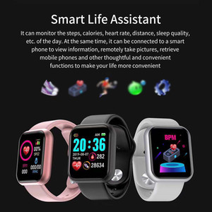Y68 Smart Watch for Women D20 Men Smartwatch for Android IOS Heart Rate Monitor Blood Pressure Sports Tracker Smart Wristband Take Photos