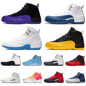boğa basketbol topu toptan satış-ayakkabı Retro aj s Basketbol ayakkabıları jumpman XII DARK CONCOR Stone Blue BULLS REVERSE FLU GAME Golden FIBA erkekler kadınlar Trainers Sports Sneakers