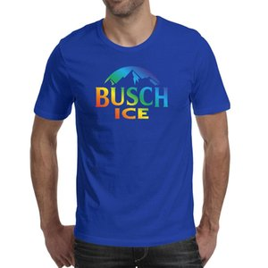 Wholesale champion shirts resale online - Fashion Mens Busch Light Beer gay rainbow blue Round neck t shirt Cool Champion shirts Latte Distressed red white Gray camouflage side