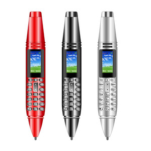 Wholesale gsm mp3 player video resale online - 6 in Multifunction AK007 Pen Mini Cellphone quot Tiny Screen GSM Dual SIM Camera Flashlight Bluetooth Dialer Mobile Phones with Recording