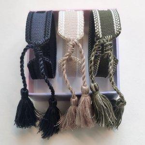 Luxury Designer Jewelry Women Men Bracelets Fashion Braided Tassel Bracelet 70 Style High Quality Embroidered Lovers Bracelet Designer