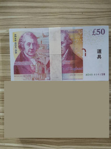 pratos de papel venda por atacado-50 libras Falso Bill Reino Unido Libra banhado a ouro Banknote Inglaterra Banknote Paper Money Home Collecti4 decorativa