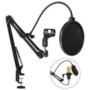 Wholesale stand for microphone for sale - Group buy bm Microphone Adjustable Suspension Arm Stand Clip Holder and Table Mounting Clamp With Filter for bm800 Microphone
